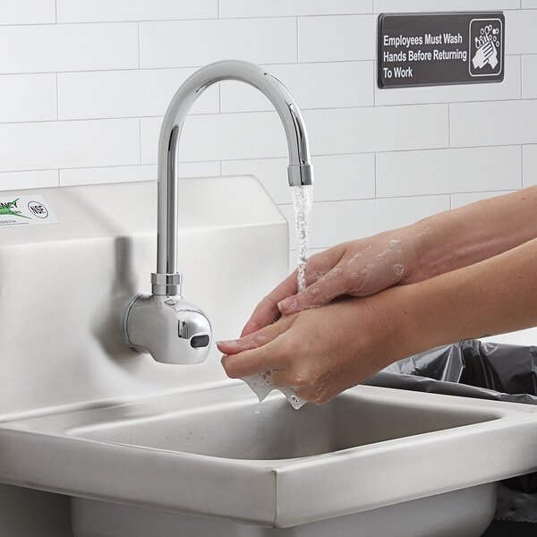 """Waterloo EFWM Wall-Mounted Hands-Free Sensor Faucet with 11 1/8"""" Gooseneck Spout Main Image 5"""