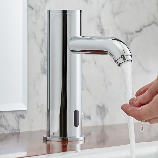 "Waterloo EFAD Deck-Mounted Hands-Free Sensor Faucet with 4"" Straight Spout Main Image 5"