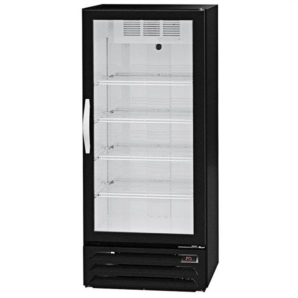 """Beverage-Air MMR12HC-1-BS-IQ MarketMax 24"""" Black Glass Door Merchandiser with Stainless Steel Interior and Electronic Smart Door Lock"""