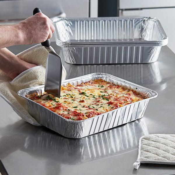 "20 Pack or Cooking Premium Lasagna Pans 14 x 10 x 3/"" Heavy Duty l Disposable Aluminum Foil for Roasting Turkey Baking"