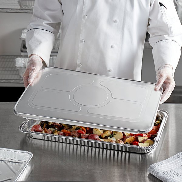 Choice Full Size 43 Gauge Foil Steam Table Pan Lid - 50/Case Main Image 2