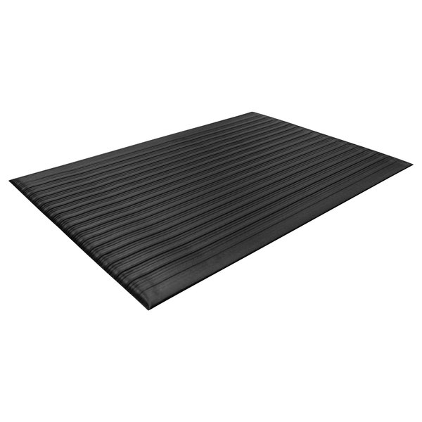 "Guardian 24031202 36"" x 144"" Black Air Step Anti-Fatigue Floor Mat Main Image 1"