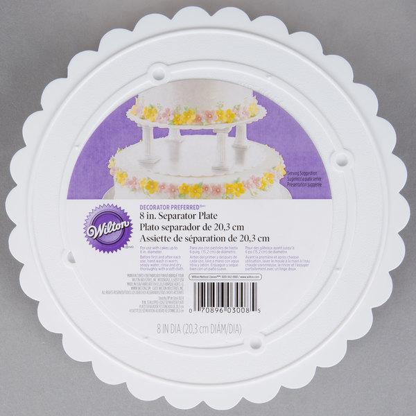 """Wilton 302-8 Decorator Preferred Round Scalloped Edge Cake Separator Plate - 8"""""""