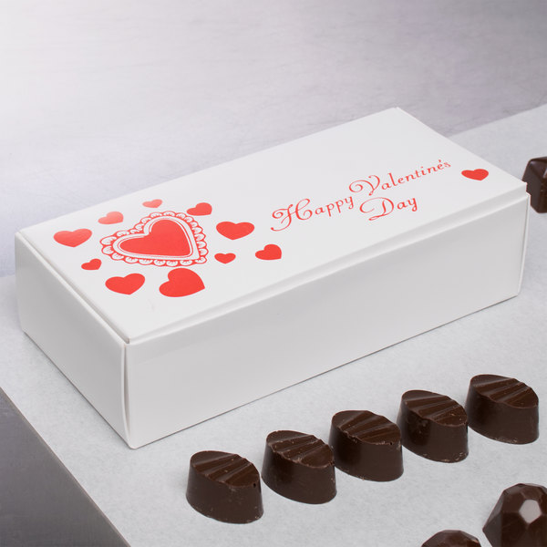 "7 1/8"" x 3 3/8"" x 1 7/8"" 1-Piece 1 lb. Valentine's Day Candy Box - 250/Case Main Image 5"