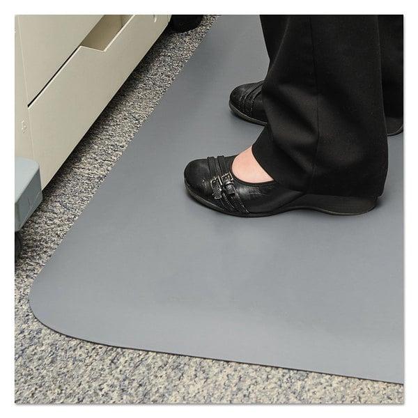 "Guardian 44030550 Pro Top 36"" x 60"" Gray Anti-Fatigue Floor Mat"