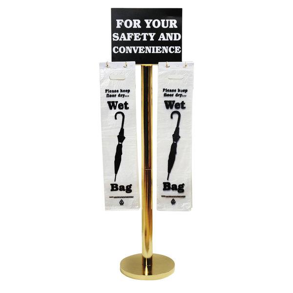 "Tatco 57029 54 1/2"" Brass Wet Umbrella Bag Stand Main Image 1"