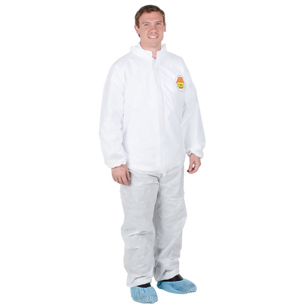 Premium White Disposable Polypropylene Coveralls - XL