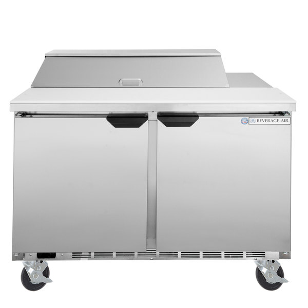 Excellent Beverage Air Spe48Hc 10 Elite Series 48 2 Door Refrigerated Sandwich Prep Table Home Remodeling Inspirations Genioncuboardxyz