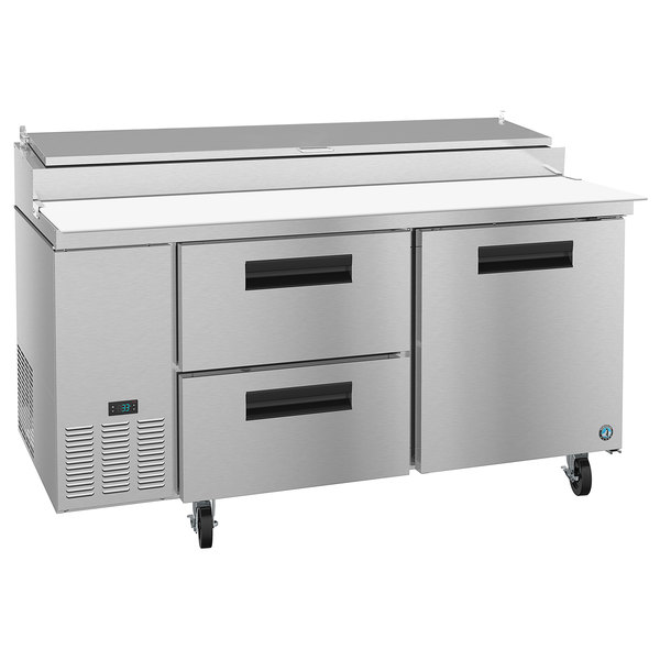 "Hoshizaki PR67A-D2 67"" 2 Drawer and 1 Door Refrigerated Pizza Prep Table"