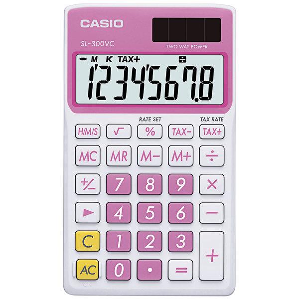 Casio SL300VCPK 8-Digit LCD Pink Handheld Calculator Main Image 1