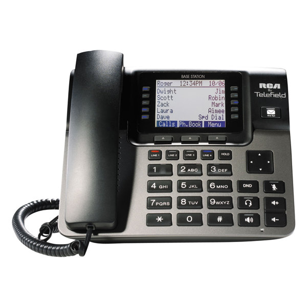 RCA U1100 Unison 4 Line Corded Expandable Desk Phone Station with Digital Answering System Main Image 1