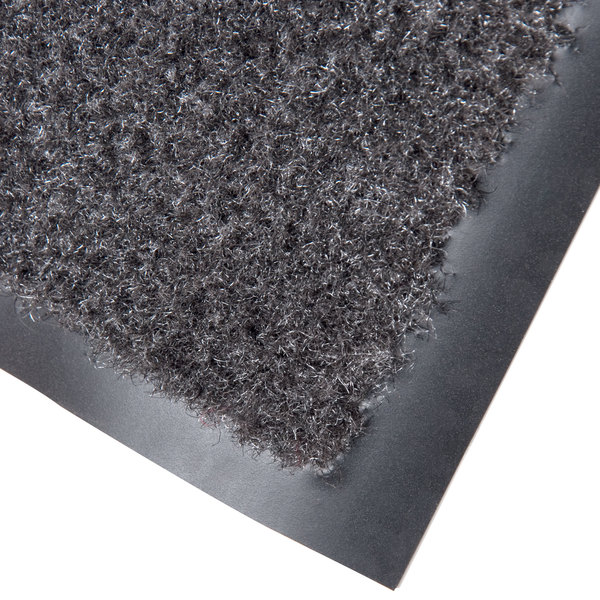 "Cactus Mat 1437M-L31 Catalina Standard-Duty 3' x 10' Charcoal Olefin Carpet Entrance Floor Mat - 5/16"" Thick"