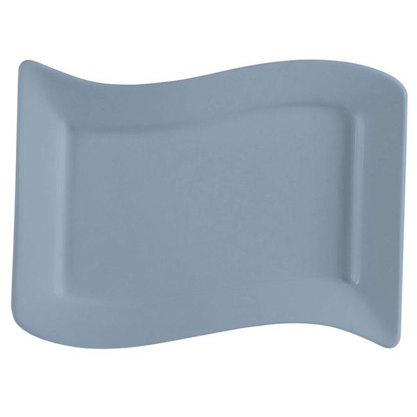 CAC SOH-125LB Color Soho 22 oz. Light Blue Stoneware Pasta Bowl - 12/Case