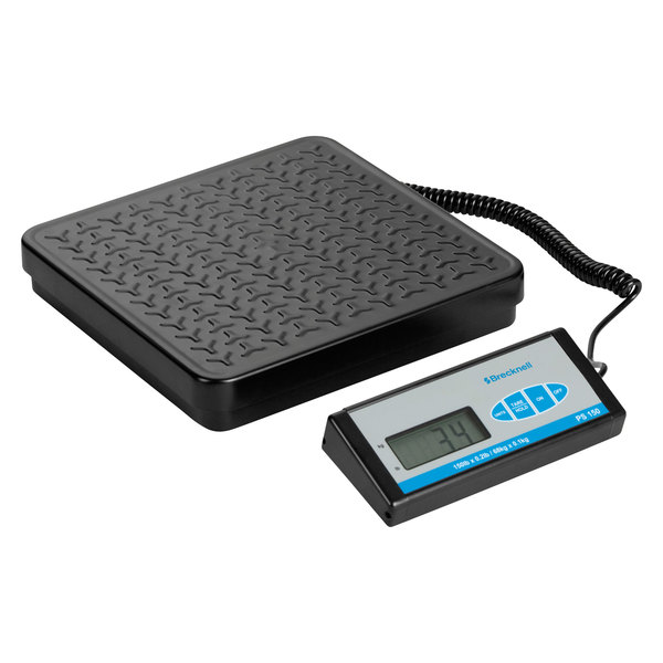 Brecknell Ps400 400 Lb Black Bench Scale With Remote Display And 12 3 16 X 11 11 16 Platform