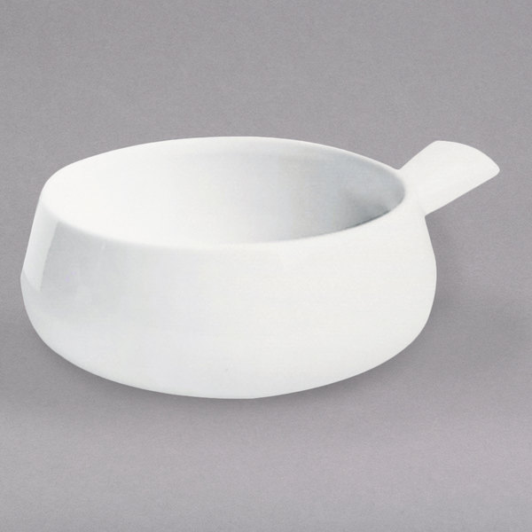 Hall China 6430ABWA Bright White 16 oz. Side Handle Soup Bowl - 24/Case
