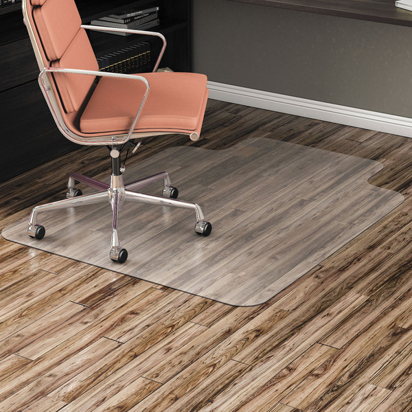 """Alera ALEMAT3648HFL 48"""" x 36"""" Clear Office Chair Mat for Hard Floors Main Image 2"""