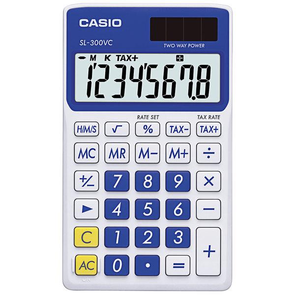 Casio SL300VCBE 8-Digit LCD Blue Handheld Calculator Main Image 1