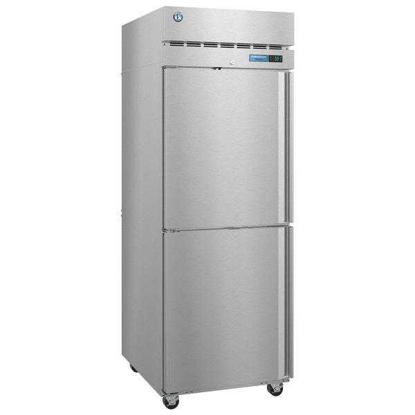 "Hoshizaki F1A-HSL 27 1/2"" Half Solid Door Reach-In Freezer - Left Hinged Main Image 1"