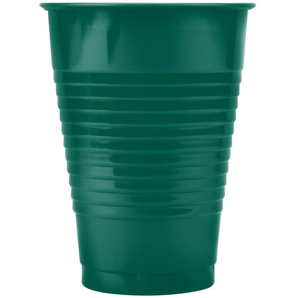 Creative Converting 28312471 12 oz. Hunter Green Plastic Cup - 240/Case