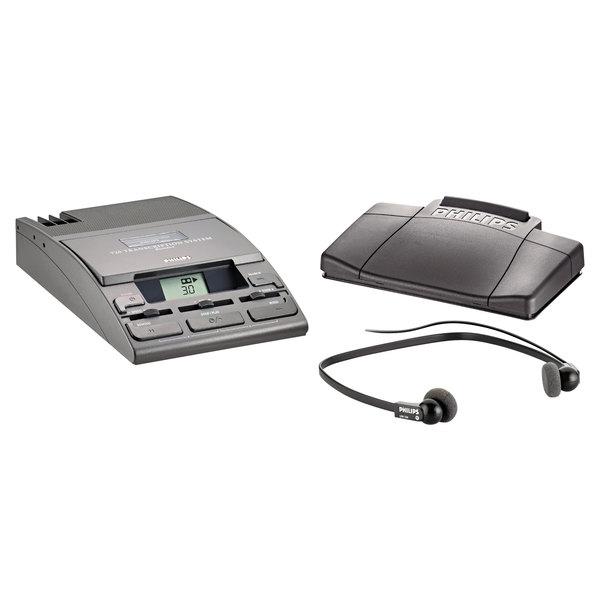 Philips LFH072052 720-T Desktop Analog Mini Cassette Transcription System with Foot Pedal Main Image 1