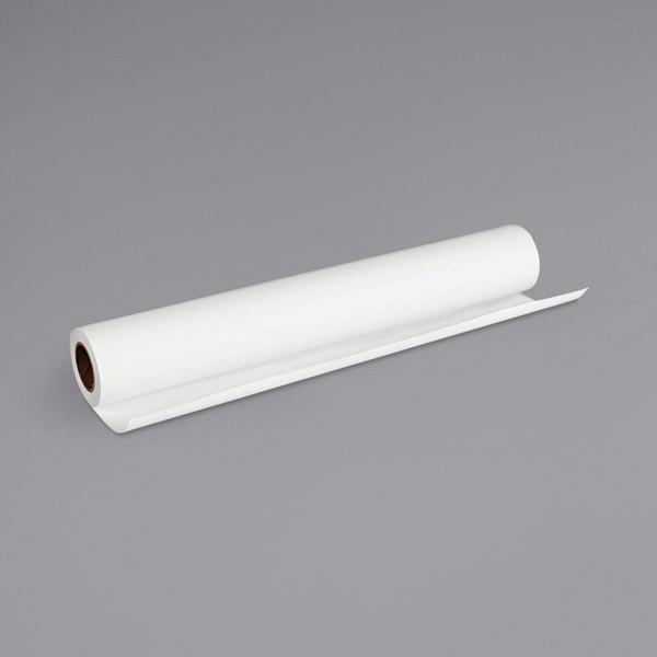 """Canon 1290V133 40' x 24"""" White 14 Mil Matte Scrim Vinyl Banner Roll Main Image 1"""