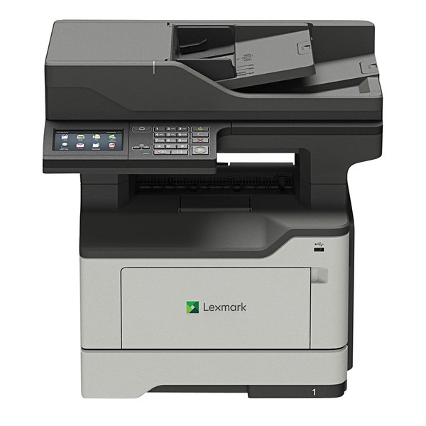 Lexmark 36S0840 MX522ADHE Multifunction Monochrome Laser Printer with Touchscreen, Fax, and Hard Drive Main Image 1