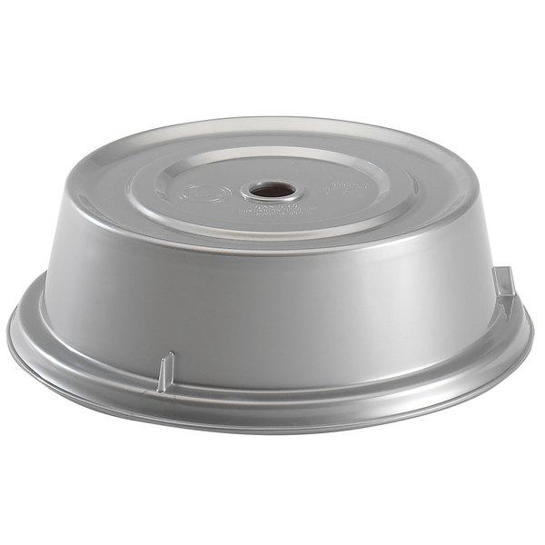 """Cambro 1000CW486 Camwear 10 3/16"""" Silver Metallic Camcover Plate Cover - 12/Case"""