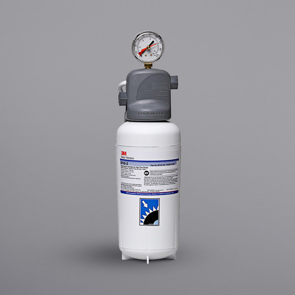 3M Water Filtration Products ICE145-S High Flow Series Water Filtration System with Valve in Head - 3 Micron Rating and 2.1 GPM Main Image 1