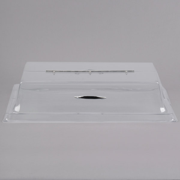 """Cal-Mil 329-12 Clear Standard Rectangular Bakery Tray Cover with Long Hinge - 12"""" x 20"""" x 4"""""""