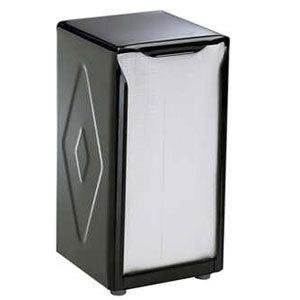 San Jamar H900BK Tallfold Two-Sided Tabletop Napkin Dispenser - Black