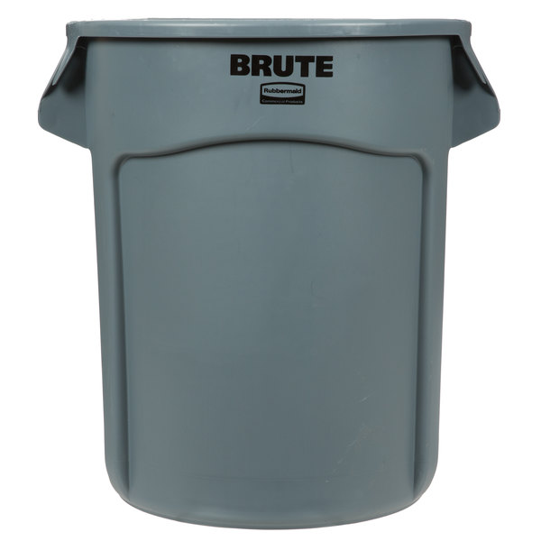 0219e3bd288 Make your waste collection more efficient with this Rubbermaid FG262000GRAY  BRUTE 20 gallon gray trash can.