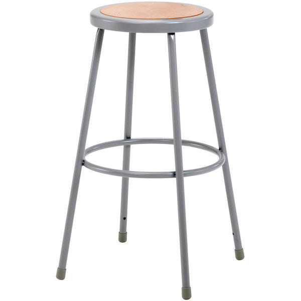 National Public Seating 6230 30 Quot Gray Hardboard Round Lab