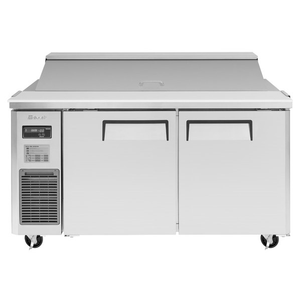 "Turbo Air JST-60 60"" 2 Door Side Mount Compressor Refrigerated Sandwich Prep Table"