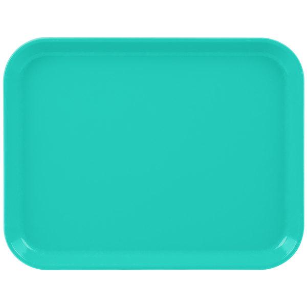 """Cambro 1014CL162 10"""" x 14"""" Green Camlite Tray - 12/Case Main Image 1"""