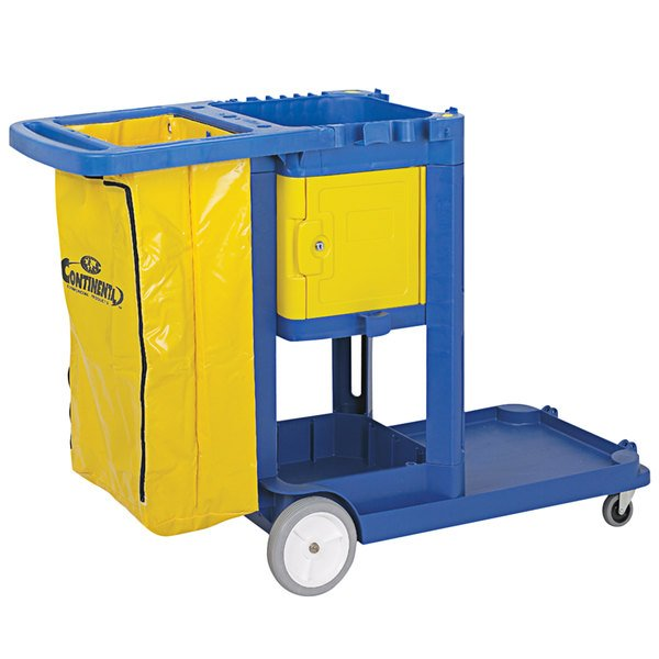 Continental 187YW Yellow Locking Cabinet Door for Janitor Carts Main Image 1