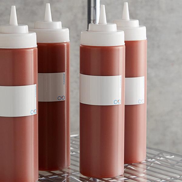 """Puracycle 702443579838 Remarkable 1 3/4"""" x 8 1/2"""" Washable / Reusable Plain Bottlewrap Label - 25/Pack Main Image 2"""