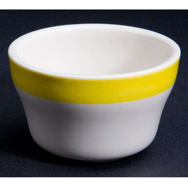 CAC R-4-Y Rainbow Bouillon Bowl 7.25 oz. - Yellow - 36/Case