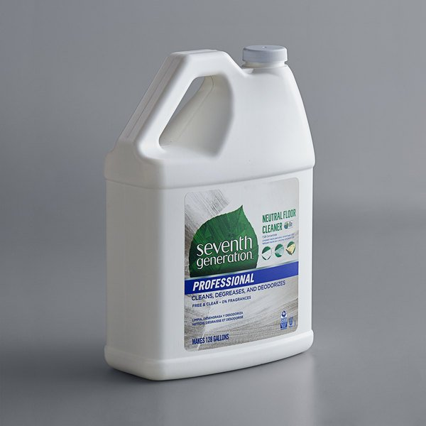 Seventh Generation 44814 Professional Free & Clear 1 Gallon Neutral Floor Cleaner Concentrate - 2/Case Main Image 1