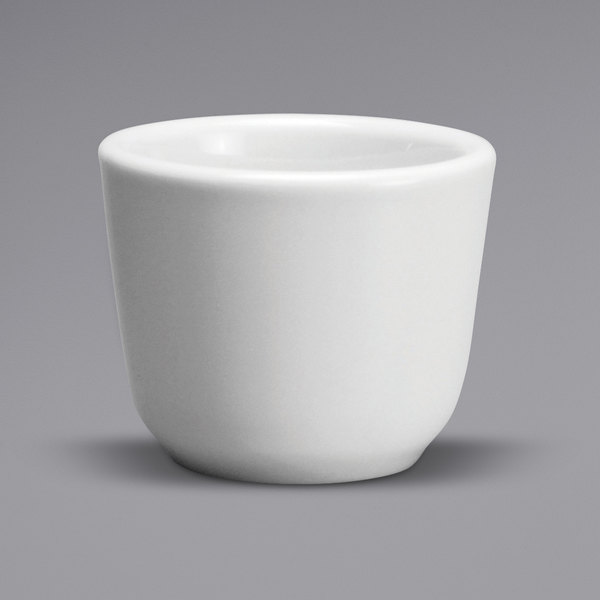 Oneida Buffalo F9010000590 Cream White Ware 4.5 oz. Rolled Edge Porcelain Chinese Cup - 36/Case Main Image 1