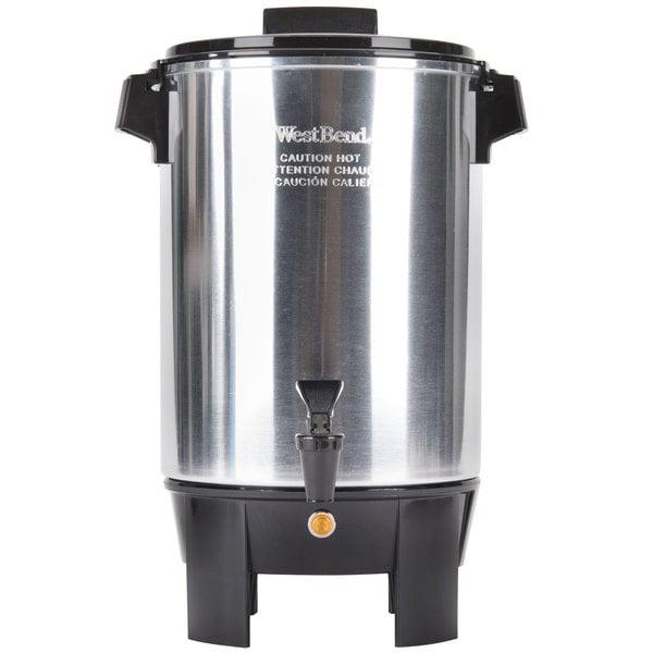 West Bend 58030R 30 Cup (1.2 Gallon) Aluminum Light Duty Coffee Urn