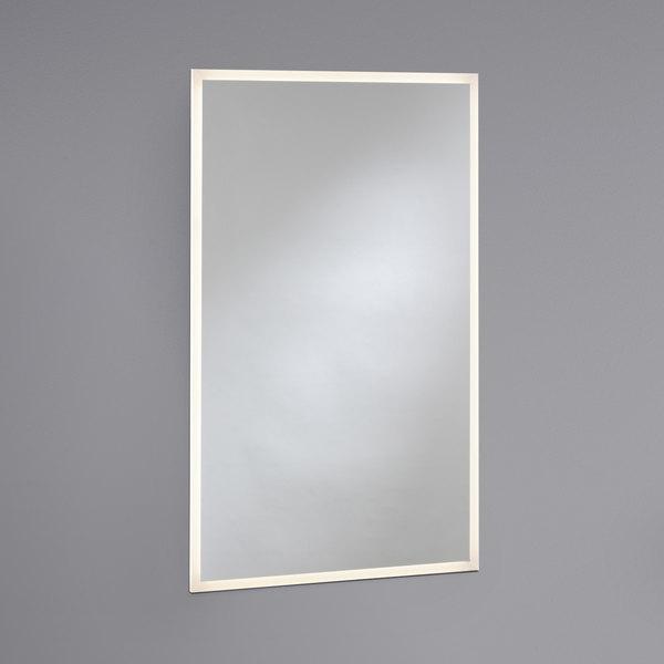 "Bobrick B-167 2448 24"" x 48"" LED Backlit Surface Mount or Recessed Mirror Main Image 1"