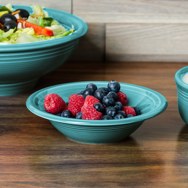 Homer Laughlin 472107 Fiesta Turquoise 11 oz. Stacking Cereal Bowl - 12/Case