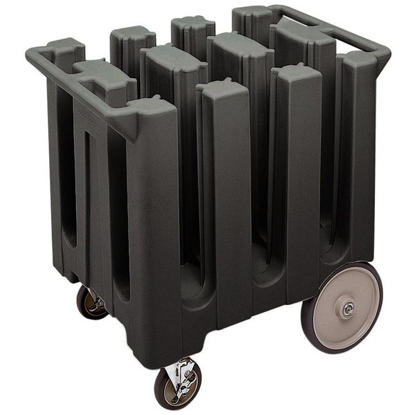 Cambro DC575110 Poker Chip Black Dish Dolly / Caddy with Vinyl Cover - 6 Column