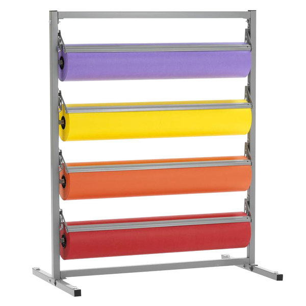 """Bulman T369R-27 27"""" Four Deck Tower Paper Rack with Straight Edge Blade"""