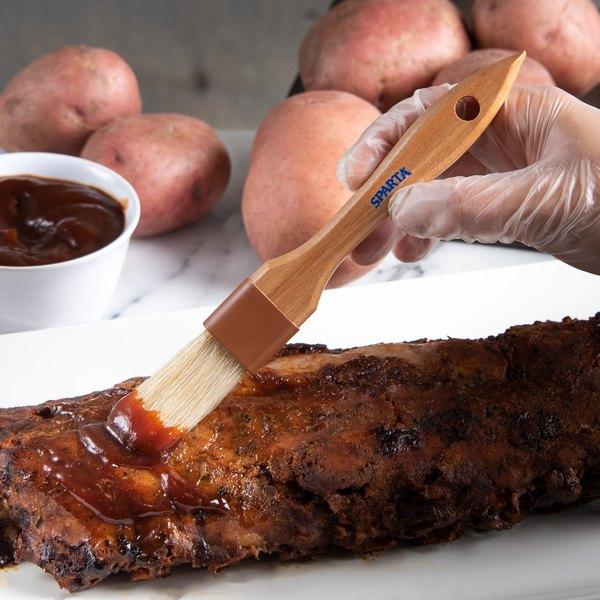 Carlisle 4037200 Sparta Chef Series 1 W Boar Bristle Pastry Basting Brush