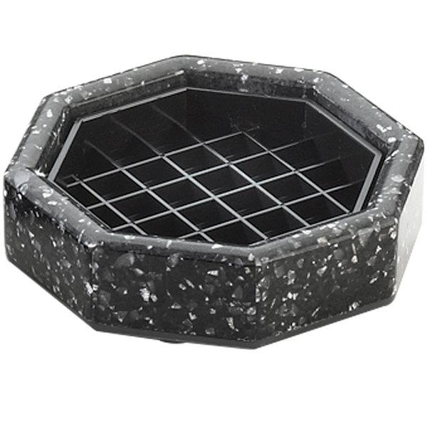 "Cal-Mil 310-4-31 4"" Black Ice Octagonal Drip Tray"