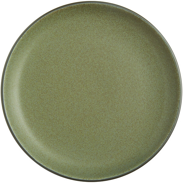 Acopa Embers 10 3 4 Moss Green Matte Coupe Stoneware Plate 12 Case