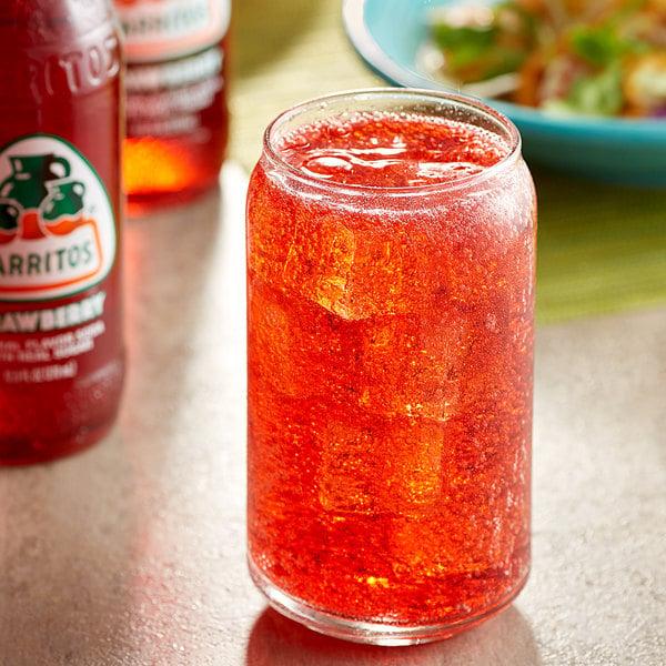 Jarritos 12.5 oz. Strawberry Soda - 24/Case