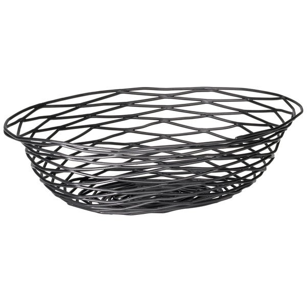 BK17412 Artisan Oval Black Wire Basket - 12\