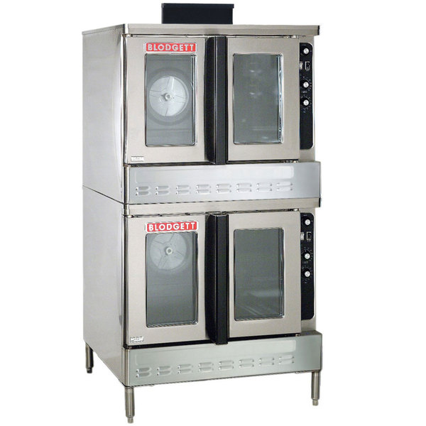 Blodgett DFG-200 Premium Series Natural Gas Double Deck Full Size Bakery Depth Convection Oven